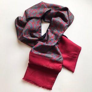 Christian Dior Vintage Silk Paisley Scarf